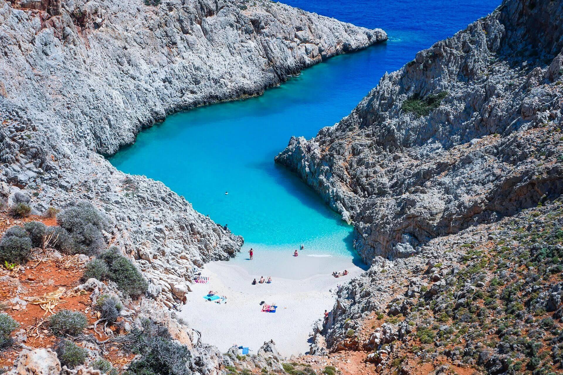Seitan Limani Beach Chania Crete