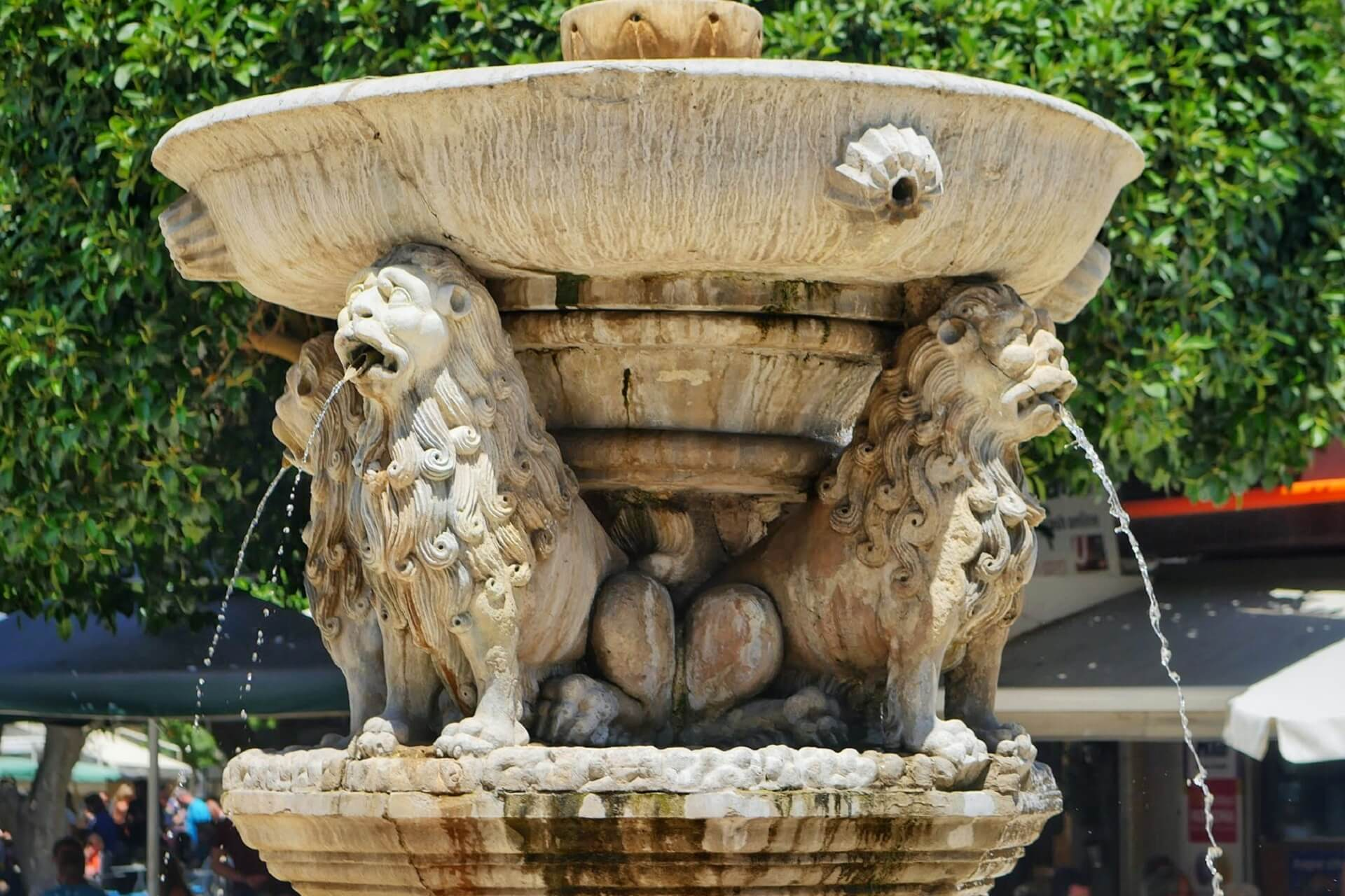 Lion Fountain Heraklion Crete
