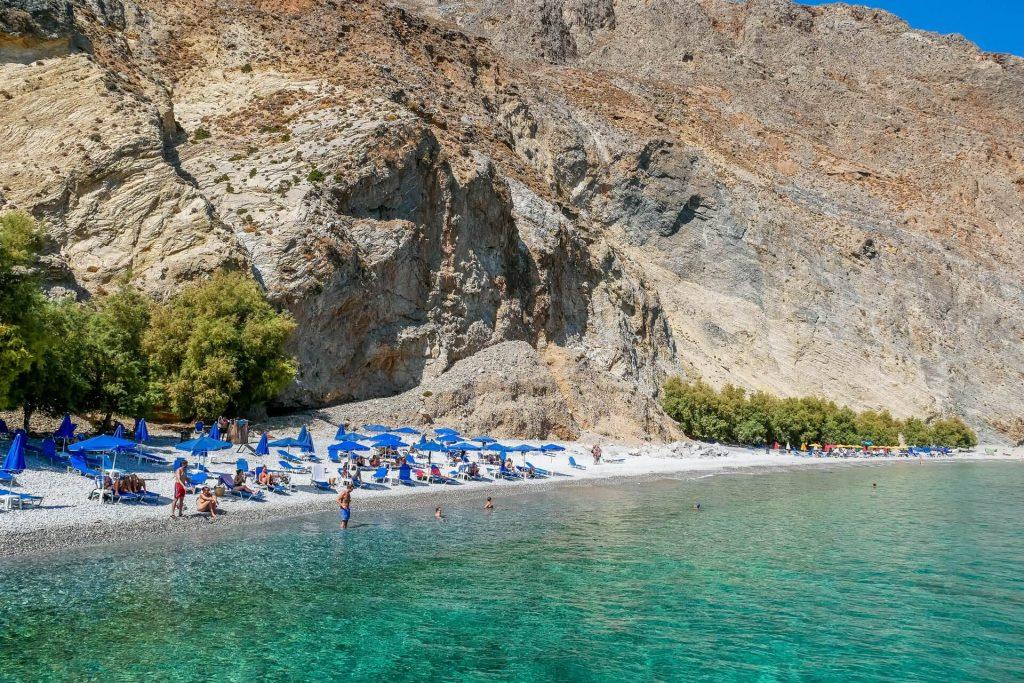 Sweet Water Beach Sfakia Chania Crete - allincrete.com