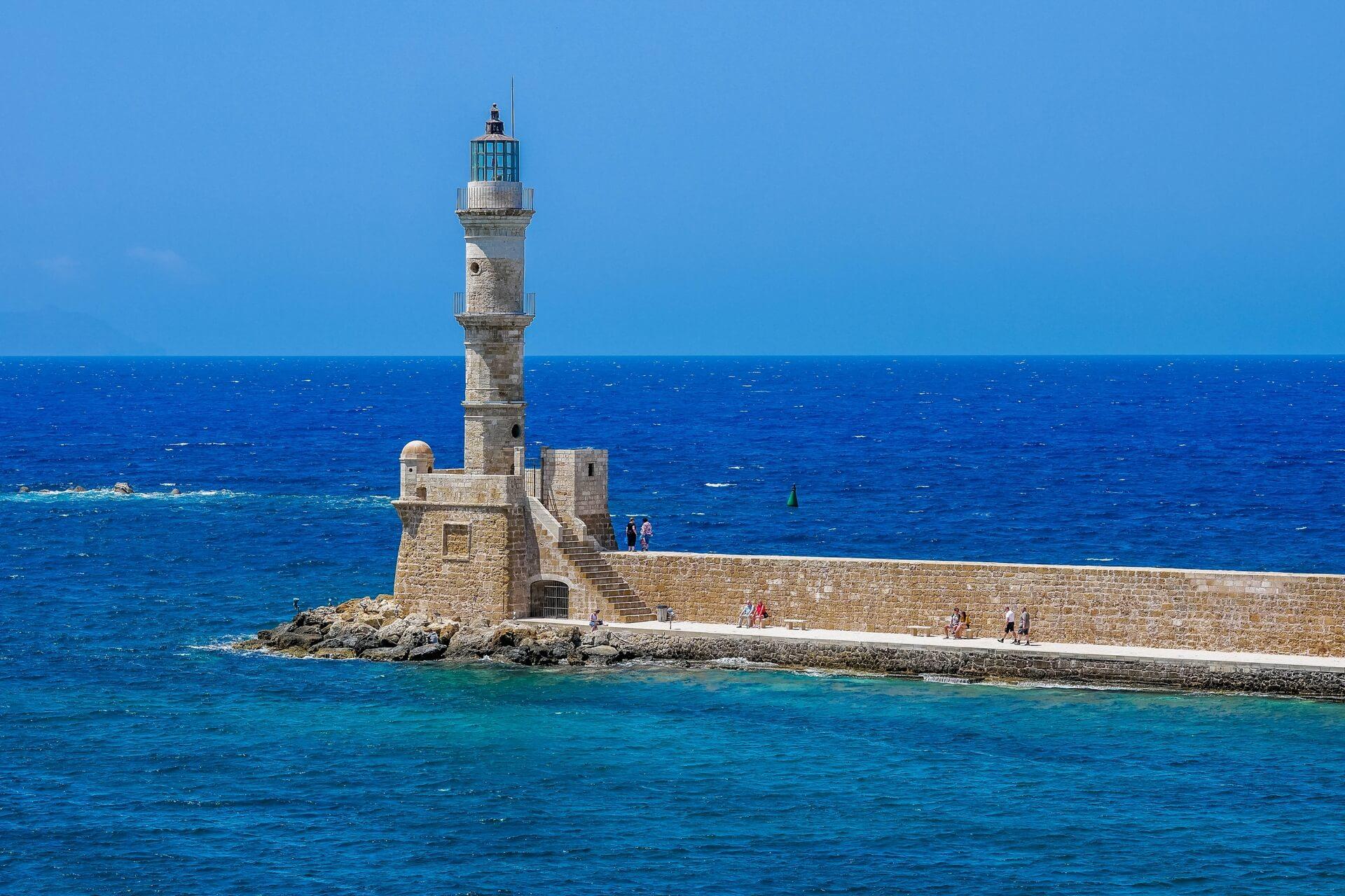 Venetian Harbour Port Lighthouse Chania Crete - allincrete.com