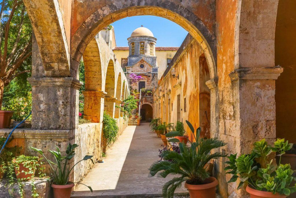 Holy Trinity Monastery (Agia Triada) Tzagaroli Chania Crete - allincrete.com