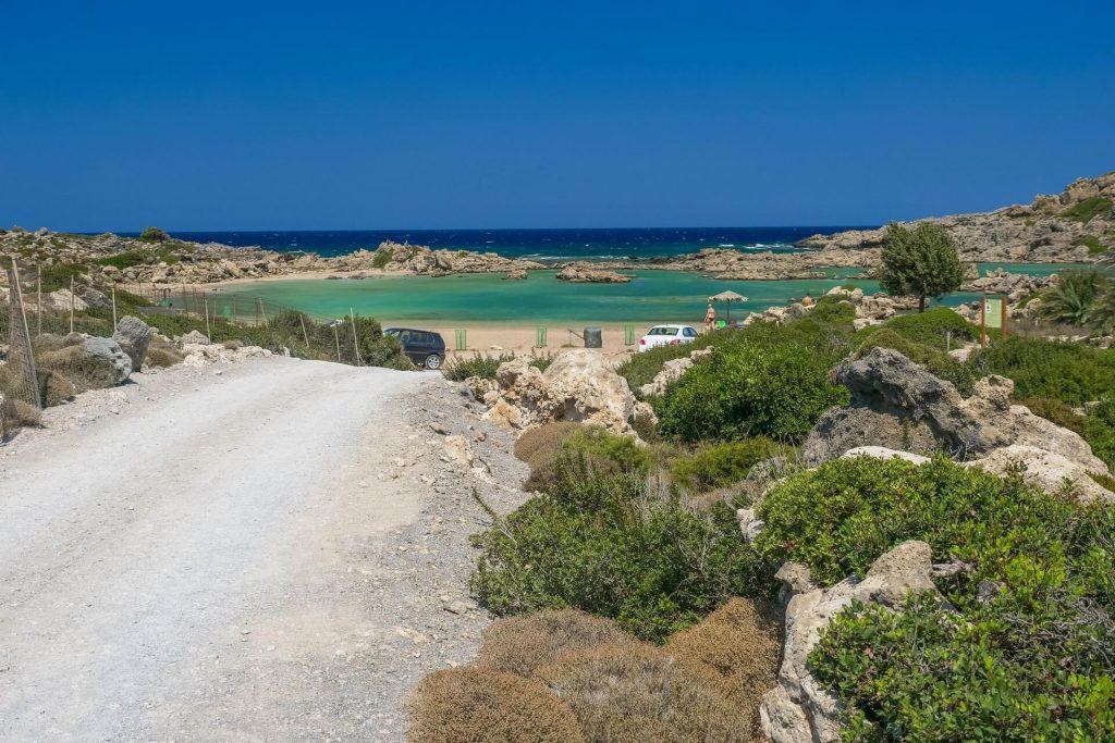 White Lake Beach Aspri Limni Chania Crete - allincrete.com