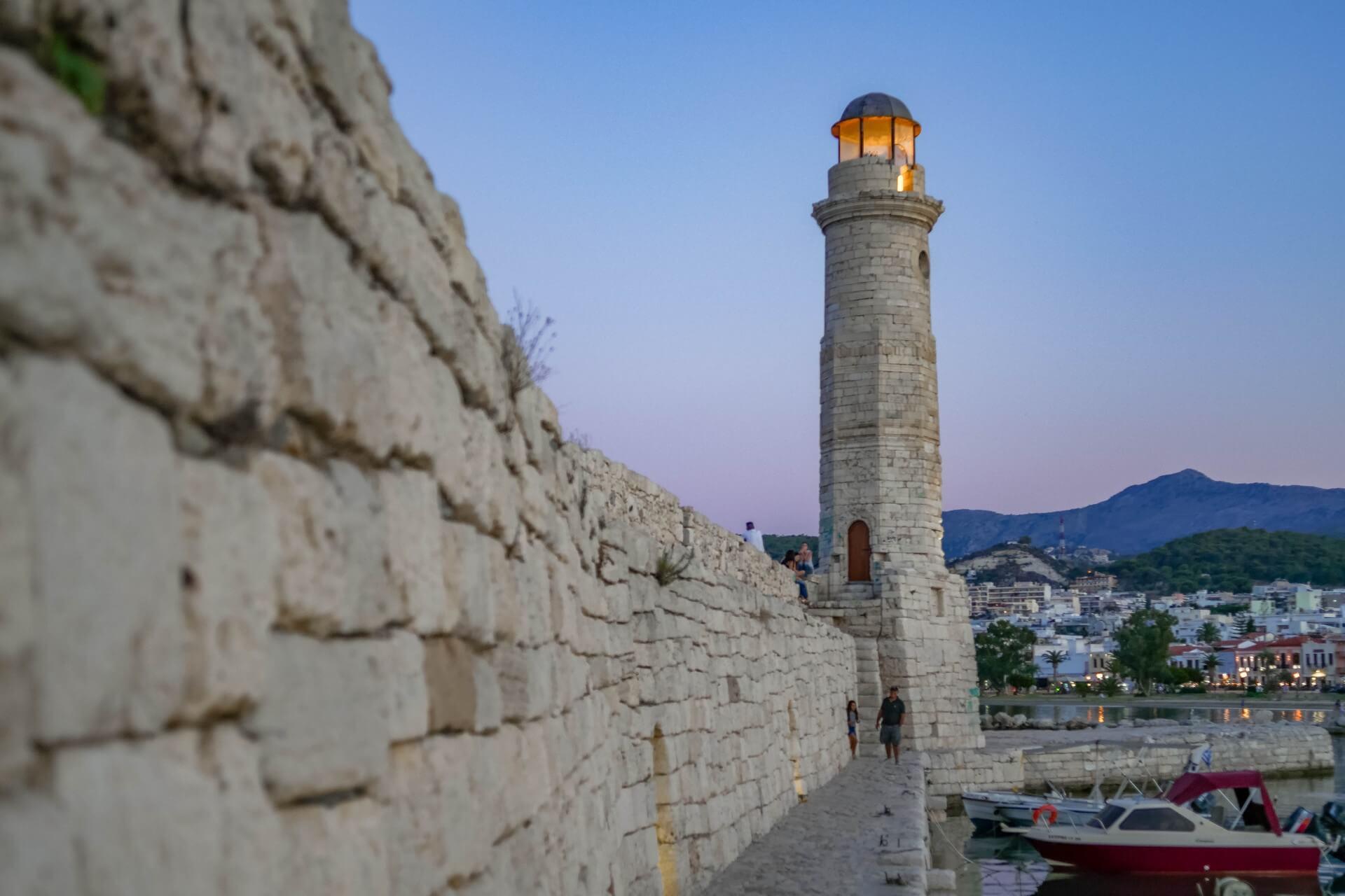 Rethymno Lighthouse in Venetian Port Crete - Copyright Allincrete.com